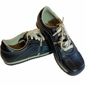 STEVE MADDEN Black Leather Sneakers sz 8B